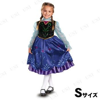 9600ad108bcba 送料無料 アナと雪の女王 アナ DXドレス 女の子用 S(4-6x) 衣装 ...