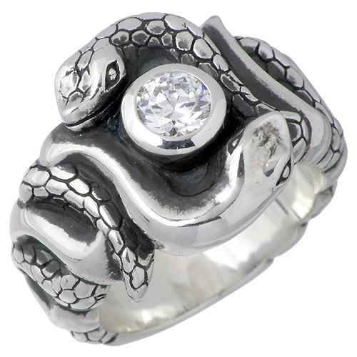 春新作の 蛇 CZ キュービック リング & ヴァスキ ディッキー&グランドマスター レディース メンズ DRS-03CZ 指輪 シルバー DICKY GRANDMASTER-指輪・リング