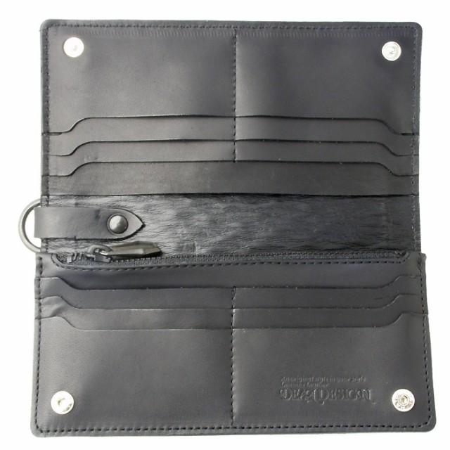 DEAL DESIGN ディールデザイン ロングウォレット長財布 メンズ グライド ブラックレザー 391869
