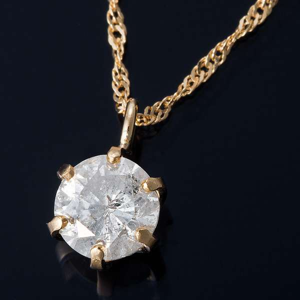 直送商品 K18 0.3ct K18 ダイヤモンド ペンダント ペンダント ネックレス 0.3ct スクリューチェーン(鑑定書付き), セラミカオンラインショップ:a06f57c3 --- chevron9.de