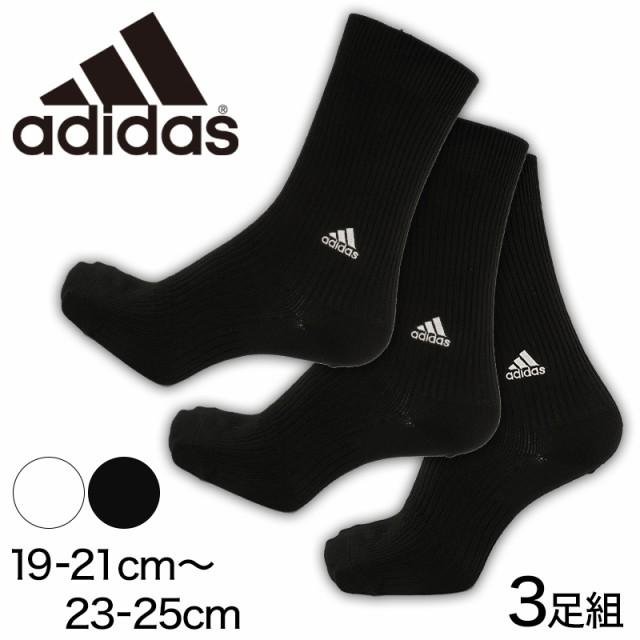 05080ea2f1b13 福助 adidas ハイクルー丈ソックス 3足組 (19-21cm~23-25cm) (在庫限り ...