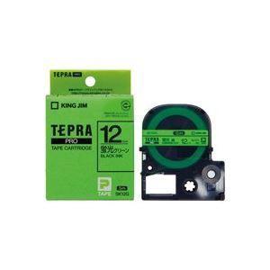 ds-1466254 (業務用5セット) キングジム テプラPROテープ/ラベルライター用テープ 【幅:12mm】 SK12G 蛍光緑に黒文字 (ds1466254)