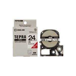 選ぶなら ds-1736742 (業務用20セット) キングジム テプラ PROテープ/ラベルライター用テープ 【24mm】 ロングタイプ SS24KL ホワイト(白) (ds1736, ROUND OVER d27d60dd