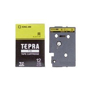 愛用 ds-1740373 (業務用30セット) キングジム テプラTRテープ TC12Y 黄に黒文字 12mm (ds1740373), Drink&Dream「D-Park」 32299ea6