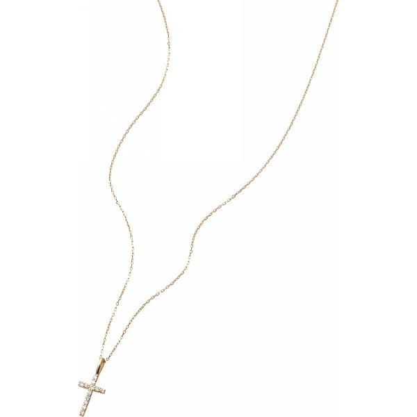 好きに 2427030002374 クロスダイヤモンドペンダント(0.08ct)(包装・のし可)-パーティーグッズ