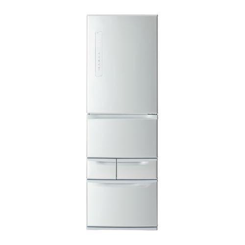 見事な 冷凍冷蔵庫 東芝 (GRR41GLS) 411L GR-R41GL-S シルバー 5ドア 左開き-キッチン家電