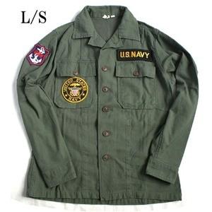 ds-2279495 アメリカ海軍NAVY長袖ファーティングシャツ オリーブ レプリカ16h(メンズL相当) (ds2279495)