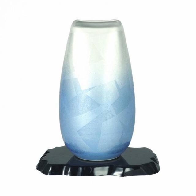 【ラッピング無料】 CMLF-1526062 九谷焼 宗秀作 9号花瓶 二色銀彩 N169-09 (CMLF1526062), キソガワチョウ e638e09a