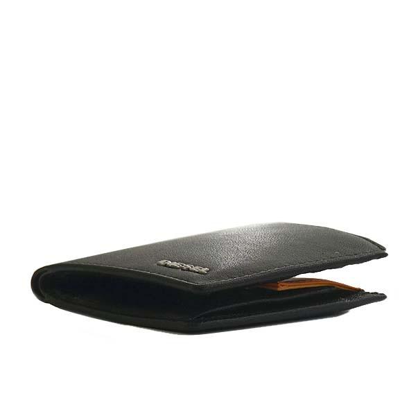 ディーゼル レディース&メンズ 二つ折り財布/DIESEL HIRESH S レザー 二つ折り財布 ブラック 卒業祝入学祝プレゼント