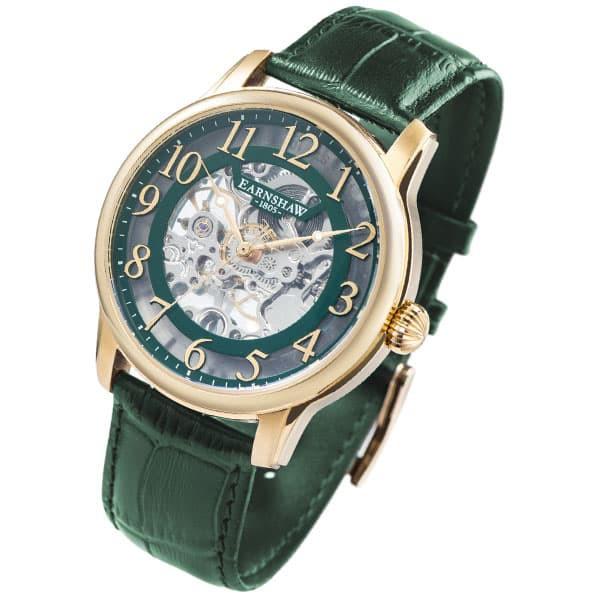 人気大割引 アーンショウ アーンショウ メンズ 腕時計 メンズ/EARNSHAW 自動巻き 自動巻き アナログ表示 レザー 腕時計, 【在庫あり】:22767fc6 --- 1gc.de