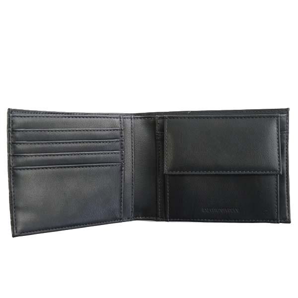 エンポリオアルマーニ メンズ 二つ折り財布/EMPORIO ARMANI 二つ折り財布 ダークグレー 卒業祝入学祝プレゼント
