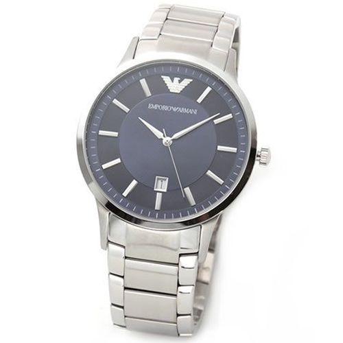 new style 90441 60f3b [即日発送]エンポリオアルマーニ メンズ 腕時計/EMPORIO ARMANI 腕時計 シルバー/メタリックネイビー au ...