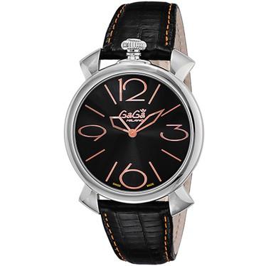 【セール 登場から人気沸騰】 ガガミラノ メンズ 腕時計 ガガミラノ メンズ/GaGa MILANO MANUALE 腕時計/GaGa THIN46mm 腕時計/ブラック, 生地手芸のユザワヤ3号館-卸販売:12c33a36 --- schongauer-volksfest.de
