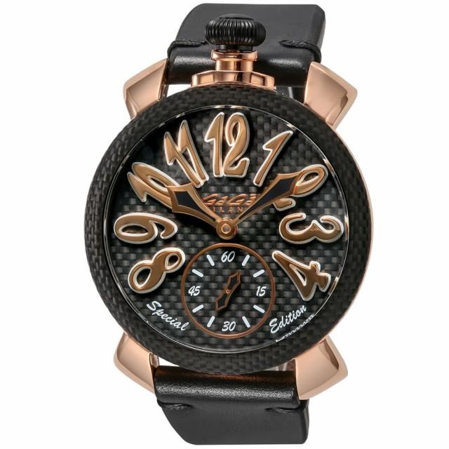 期間限定特別価格 ガガミラノ メンズ 腕時計/GaGa MILANO レザーベルト 手巻き 腕時計, Plus Cherie 4446be21