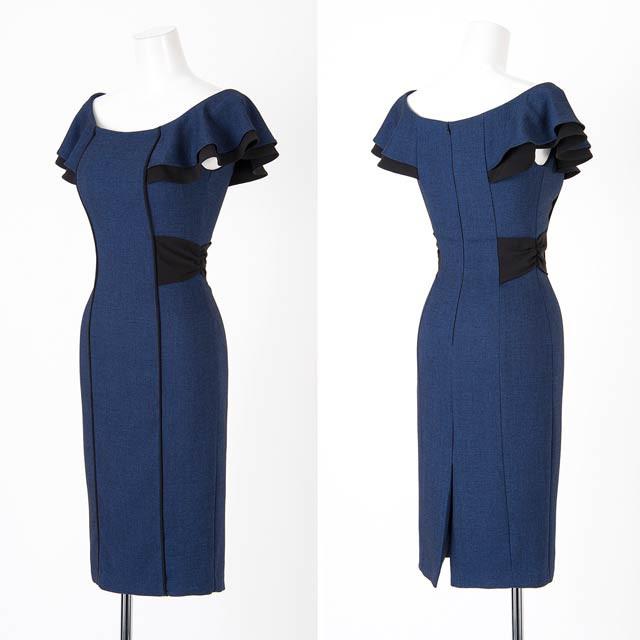 ドレス キャバ ワンピース S/Mサイズ コットンフレアオフショルタイトミニドレス キャバドレス