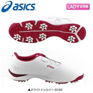 【レディース】 アシックス ゲルエース シーア3 ボア TGN917 ゴルフシューズ ホワイト×シルバー (0193)