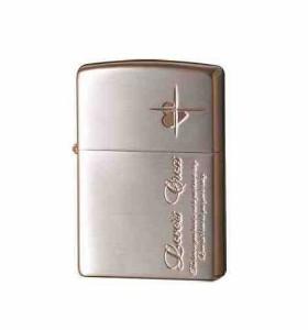 ZIPPO(ジッポー) ライター ラバーズ・クロス メッセージSIDE 銀サテーナ&ピンクゴールド 63050298