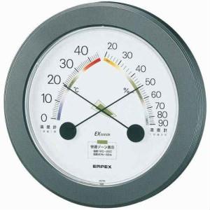 EMPEX 温度・湿度計 ハイライフ 温度・湿度計 壁掛用 TM-2342 メタリックグレー(支社倉庫発送品)