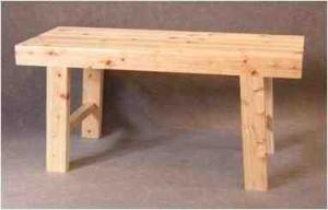 星野工業 ヒノキ製 ホームベンチ 140cm(支社倉庫発送品)