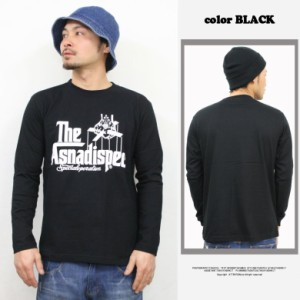 ロング tシャツ ロンT メンズ 長袖Tシャツ The Asnadispec ロゴ メール便 SALE ストリート 大きいサイズ /3045/ aslt2207r hit_d pre_d