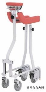 歩行器 介護用品 折りたたみ式歩行車 TY157B-SL 抑速機能付・グリップなし リハビリ 高齢者用 hkz