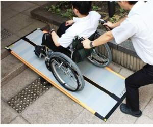 介護用品 車いす用段差解消スロープ ケアスロープ 長さ100cm 車椅子 車いす バリアフリー ポータブル
