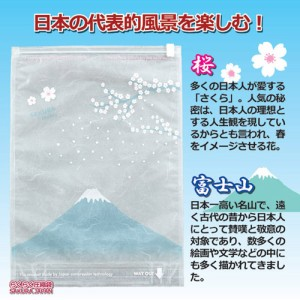 ラッキーシップ らくらく圧縮袋 SAKURA JAPAN 1枚 810027