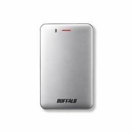 """""""BUFFALO バッファロー SSD-PM120U3A-S 耐振動・耐衝撃 省電力設計 USB3.1(Gen1)対応 小型ポータブルSSD 120GB シルバー SSD-PM120U3A-S(U"""""""