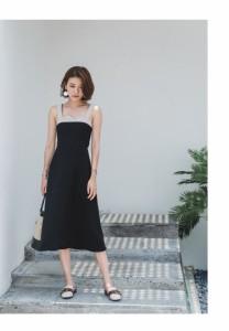 ドレス キャミソール シック バイカラー クール