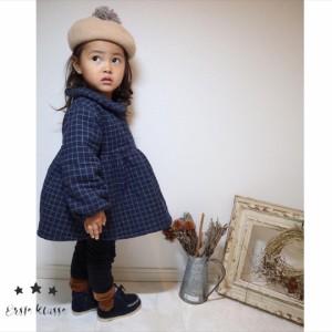 グラフチェックチュニックワンピース 韓国子供服 ワンピース