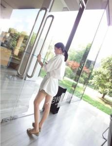 ホワイトチュニックシャツ☆レディース☆人気☆シンプル 送料無料
