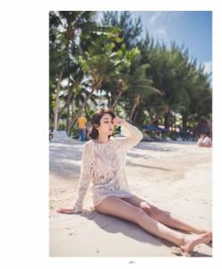 可愛い レディース 女性 デコラティブ レース かわいい プルオーバー 羽織 透け感 ベージュ ビーチ ビーチウェア 海 夏