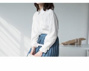 袖 ベルト デザイン ストライプ ブラウス 2018 春夏 大人かわいい シャツ 全2色 YK142