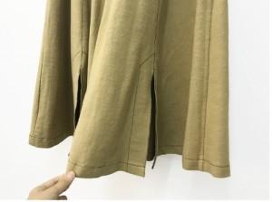 スリット多めで健康的なセクシー!前ボタンのフレアスカート