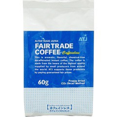 フェアトレードインスタントコーヒー カフェインレス (詰替)(60g)[カフェインレスコーヒー]