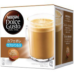 ネスカフェ ドルチェグスト カフェオレ カフェインレス(16杯分)[カフェインレスコーヒー]
