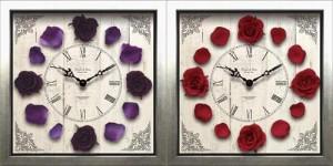 取寄品 送料無料 クラシックローズ 壁掛け時計 ウォールクロック 可愛いインテリア