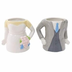 マグカップ 3Dペアマグカップ 新郎新婦 おしゃれ食器
