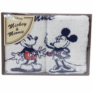 ミッキー&ミニー タオルギフトセット ウォッシュタオル2枚組セット コミック ディズニー キャラクター グッズ
