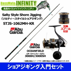 【ショアジギング入門セット】●Abu ソルティースタイル STJS-1062MH-KR+オーシャンフィールド 3000H/3000SH