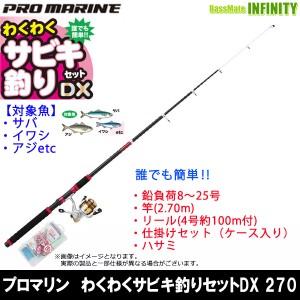 【在庫限定57%OFF】プロマリン わくわくサビキ釣りセットDX 270 海釣り入門セット