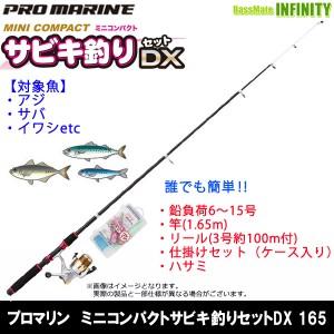 【在庫限定56%OFF】プロマリン ミニコンパクトサビキ釣りセットDX 165 海釣り入門セット