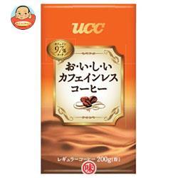 【送料無料】 UCC  おいしいカフェインレス コーヒー(粉)  200g袋×24袋入