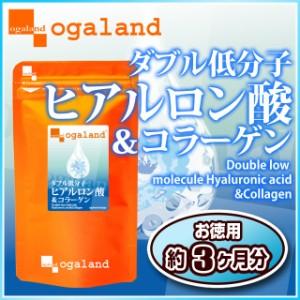 お徳用W低分子ヒアルロン酸&コラーゲン(約3ヶ月分)3150円以上送料無料 乾燥 保湿サポート 激安  サプリ