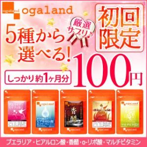 ■初回限定■5種から選べる100円 サプリ(約1ヶ月分)送料無料 香酢 ヒアルロン リポ酸 マルチビタミン プエラリア サプリメント