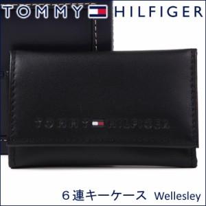 3d6afc25b22b トミーヒルフィガー 6連キーケース TOMMY HILFIGER キーホルダー ブラック 31TL17X005 BLACK