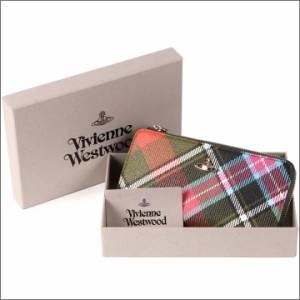ヴィヴィアンウエストウッド 財布 Vivienne Westwood L字ファスナー長財布 レディース メンズ チェック 10042V DERBY MULTI 17AW