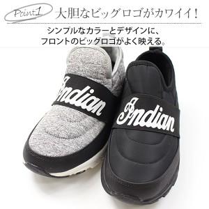 即納 あす着 送料無料 スニーカー レディース インディアン スリッポン 靴 Indian IND-12802