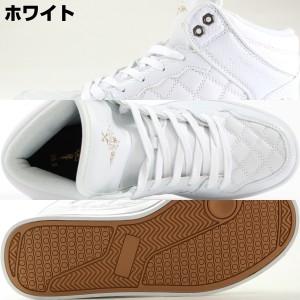 送料無料 スニーカー メンズ ハイカット 白 黒 ホワイト ブラック おしゃれ かっこいい 靴 XSTREET 14082