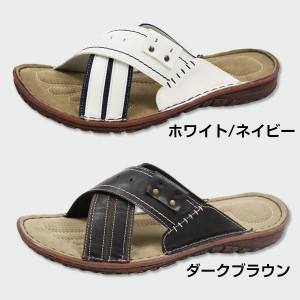 即納 あす着 サンダル メンズ クロスベルト 靴 Liberty Duck JMC-8259